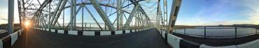 Панорама мост через Ангару